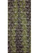 Karışık Desenli Sakallı ve Payetli Kahve Yeşil Kumaş - K8819