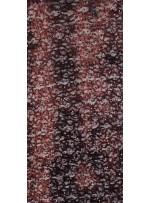 Karışık Desenli Sakallı ve Payetli Siyah Kumaş - K8819