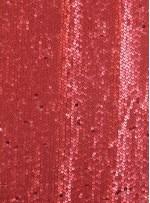 Elbiselik 5 Milim Seyrek Payetli Mat Kırmızı c40 Kumaş - K8821