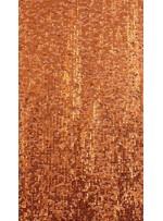 Elbiselik 5 Milim Seyrek Payetli Mat Turuncu c39 Kumaş - K8821
