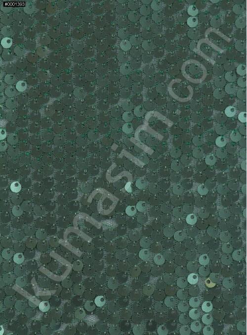 Elbiselik 5 Milim Seyrek Payetli Mat Yeşil c24 Kumaş - K8821