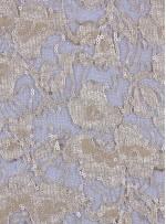 Çiçek Desenli Mat Gold Payetli Dantel Kumaş - K8824
