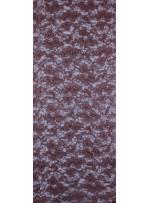 Çiçek Desenli Mat Kahve Payetli Dantel Kumaş - K8824