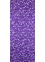 Çiçek Desenli Mat Mor Payetli Dantel Kumaş - K8824