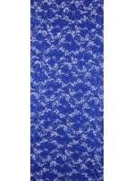 Çiçek Desenli Mat Sax Payetli Dantel Kumaş - K8824
