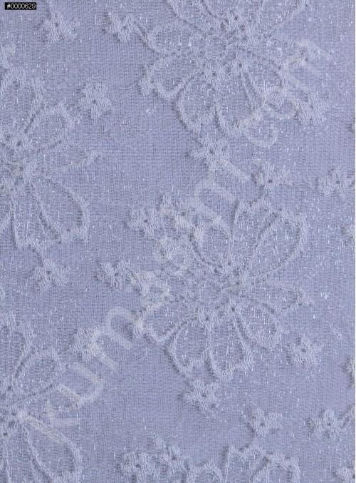 Çiçek Desenli Dantel Kumaş - Kemik - K8834