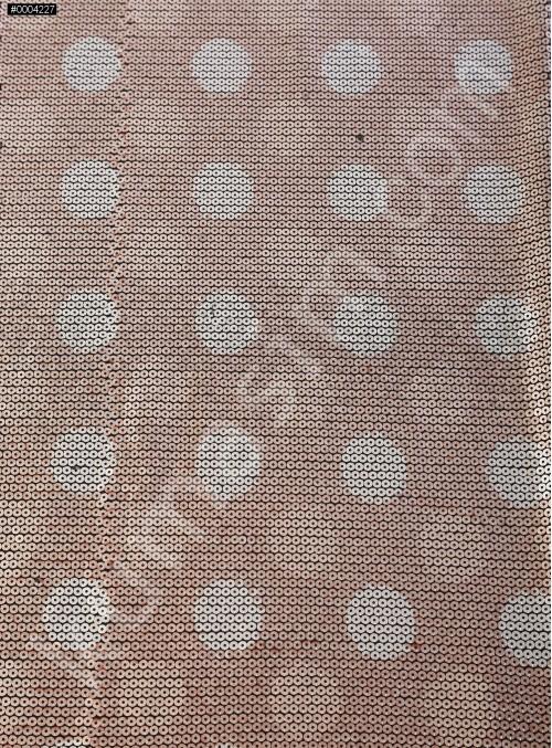 Jarse Üzeri 5 mm Sıvama Payetli Dijital Baskılı Gold Kumaş - K88381