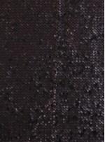 Jarse Üzeri 5 mm Gözyaşı Payetli Mat Siyah Kumaş - K8840