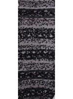 Likralı Dantel Üzeri Sim ve Armut Payet İşlemeli Siyah Kumaş - K88503