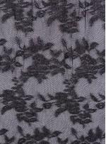 Gümüş Simli İşlemeli İnce Dantel Kumaş - K8854