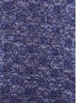 Çiçek Desenli Sax Payetli Dantel Kumaş - K8871
