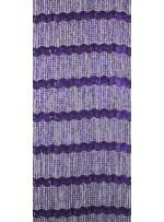 Küçük Halka Desenli Mor Abiye Payetli Kumaş - K8875