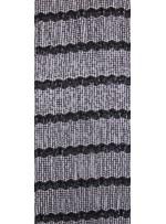 Küçük Halka Desenli Siyah Abiye Payetli Kumaş - K8875