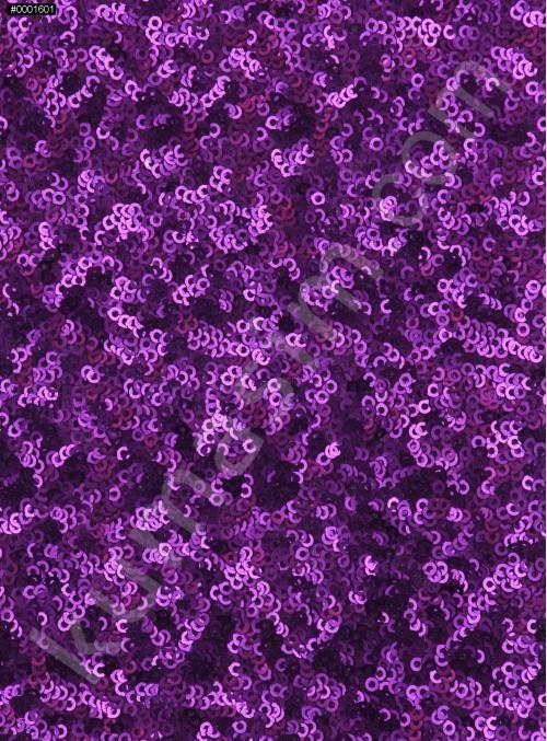 Elbiselik 3 Milim Yoğun Payetli Mat Mor c67 Kumaş - K8878
