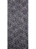 Gümüş Varaklı Kordoneli Siyah Dantel Kumaş - K8889