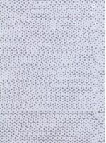 5 mm Sıvama Beyaz Payetli Kumaş - K8917