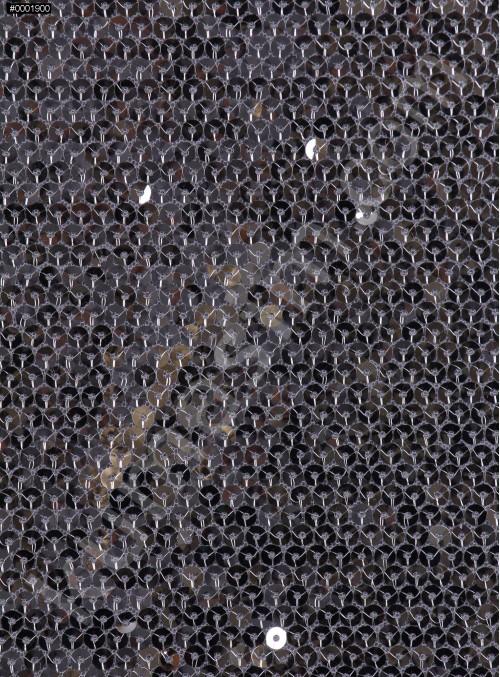 5 mm Sıvama Gümüş Payetli Kumaş - K8917