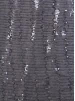 5 mm Sıvama Şeffaf Siyah Payetli Kumaş - K8917
