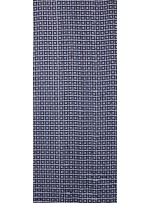 Kare Desenli Mat Siyah Payetli Kumaş - K8918