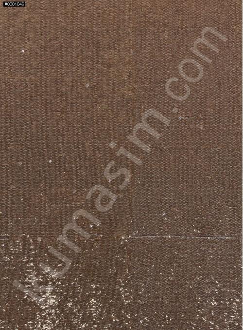 Balık Sırtı Çift Taraflı Payetli Mermaid Kumaş - Gold - K8932