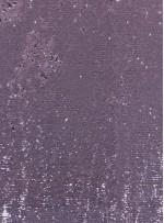 Balık Sırtı Çift Taraflı Payetli Mermaid Kumaş - Pudra - K8932