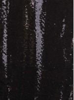Jarse Üzeri 3 mm Sıvama Payetli Siyah Kumaş - K8933