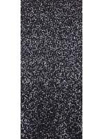 Jarse Üzeri Likralı Payetli Kumaş - Siyah Gümüş - K8934