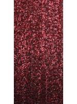 5mm Yoğun Payetli Kırmızı c10 Kumaş - K8936