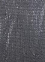 Ezik 3 mm Sıralı Payetli Antrasit Kumaş - K8937