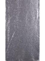 Ezik 3 mm Sıralı Payetli Gümüş Kumaş - K8937