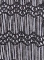 İspanyol Desenli Gümüş Saçaklı Kumaş - K8939