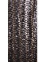 Çizgi Desenli Çift Renkli Siyah Gold Payetli Kumaş - K8950