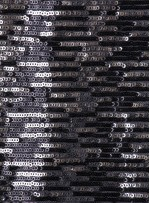 Çizgi Desenli Çift Renkli Siyah Gümüş Payetli Kumaş - K8950