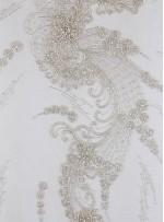 Gelinlik Swarovski Taşlı - Payetli ve Boncuklu Kupon Beyaz Elbise - A8955