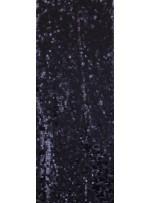 Armut Desenli Mat Siyah Payetli Kumaş - K8956