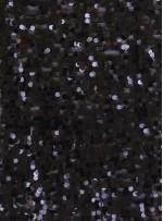 Armut Desenli Parlak Siyah Payetli Kumaş - K8956
