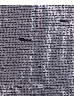 Jase Üstüne 5 Milim Gümüş Sıralı Payetli Kumaş - K8961