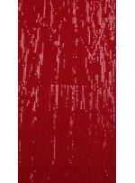 Jase Üstüne 5 Milim Kırmızı Sıralı Payetli Kumaş - K8961