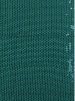 Jase Üstüne 5 Milim Yeşil Sıralı Payetli Kumaş - K8961