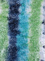 Çok Renkli Lacivert - Turkuaz - Fıstık Yeşili Payetli Kumaş - K8962