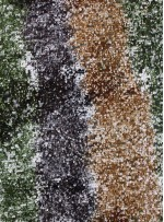 Çok Renkli Yeşil - Siyah - Kahverengi Payetli Kumaş - K8962