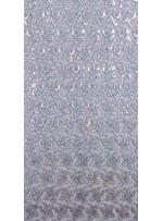 Kayan Yıldız Desenli Hologram - Şeffaf Payetli Kumaş - K8976