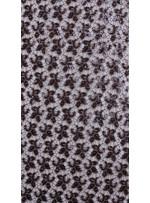 Kayan Yıldız Desenli Kahverengi Payetli Kumaş - K8976