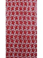 Kayan Yıldız Desenli Kırmızı Payetli Kumaş - K8976
