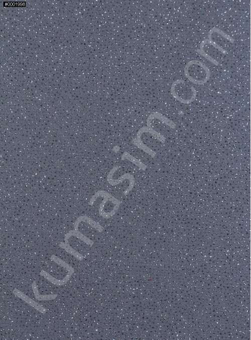 Antrasit c22 Düz Simli Şifon - K8992