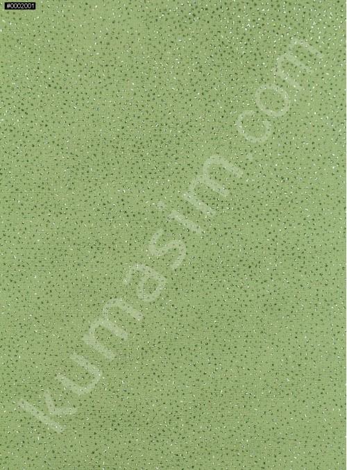 Fıstık Yeşil Düz Simli Şifon - K8992
