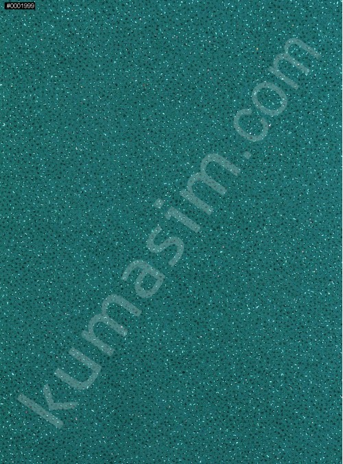 Zümrüt Yeşil c19 Düz Simli Şifon - K8992