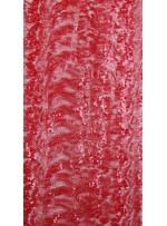 Dalga Desenli 3 mm ve 5 mm Neon Kırmızı c27 Payetli Kumaş - K9008