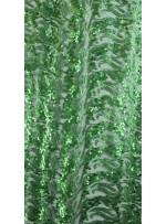 Dalga Desenli 3 mm ve 5 mm Mat Açık Yeşil c9 Payetli Kumaş - K9008