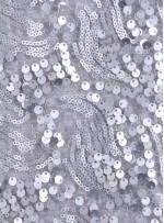 Dalga Desenli 3 mm ve 5 mm Mat Gümüş c16 Payetli Kumaş - K9008